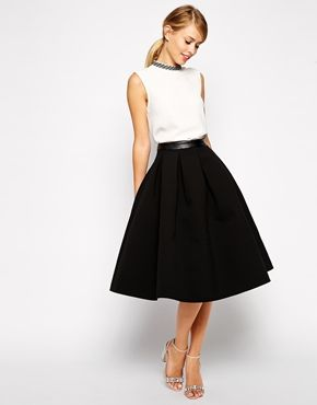 7d702dd7e653 ASOS Premium Skirt In Bonded Crepe   clothes in 2019   Asos skirts ...