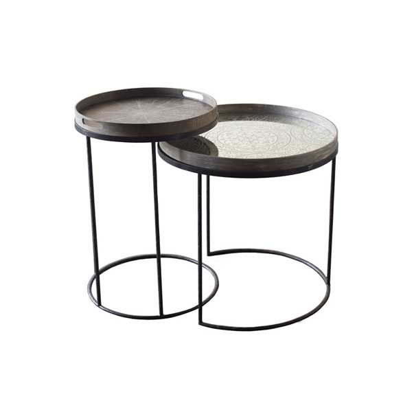 Exceptional Notre Monde | Round Tray Table   Small   20704   Metal Frame