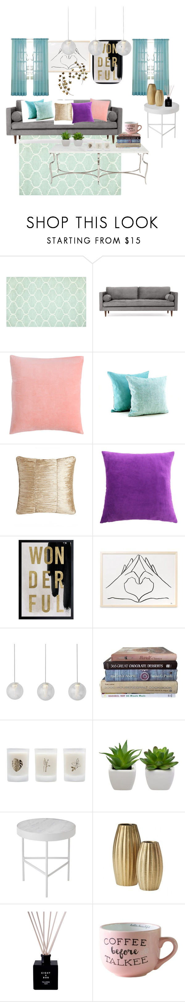 """""""colorful home"""" by kailigarcia ❤ liked on Polyvore featuring interior, interiors, interior design, home, home decor, interior decorating, Joybird, Austin Horn, Bernhardt and Oliver Gal Artist Co."""