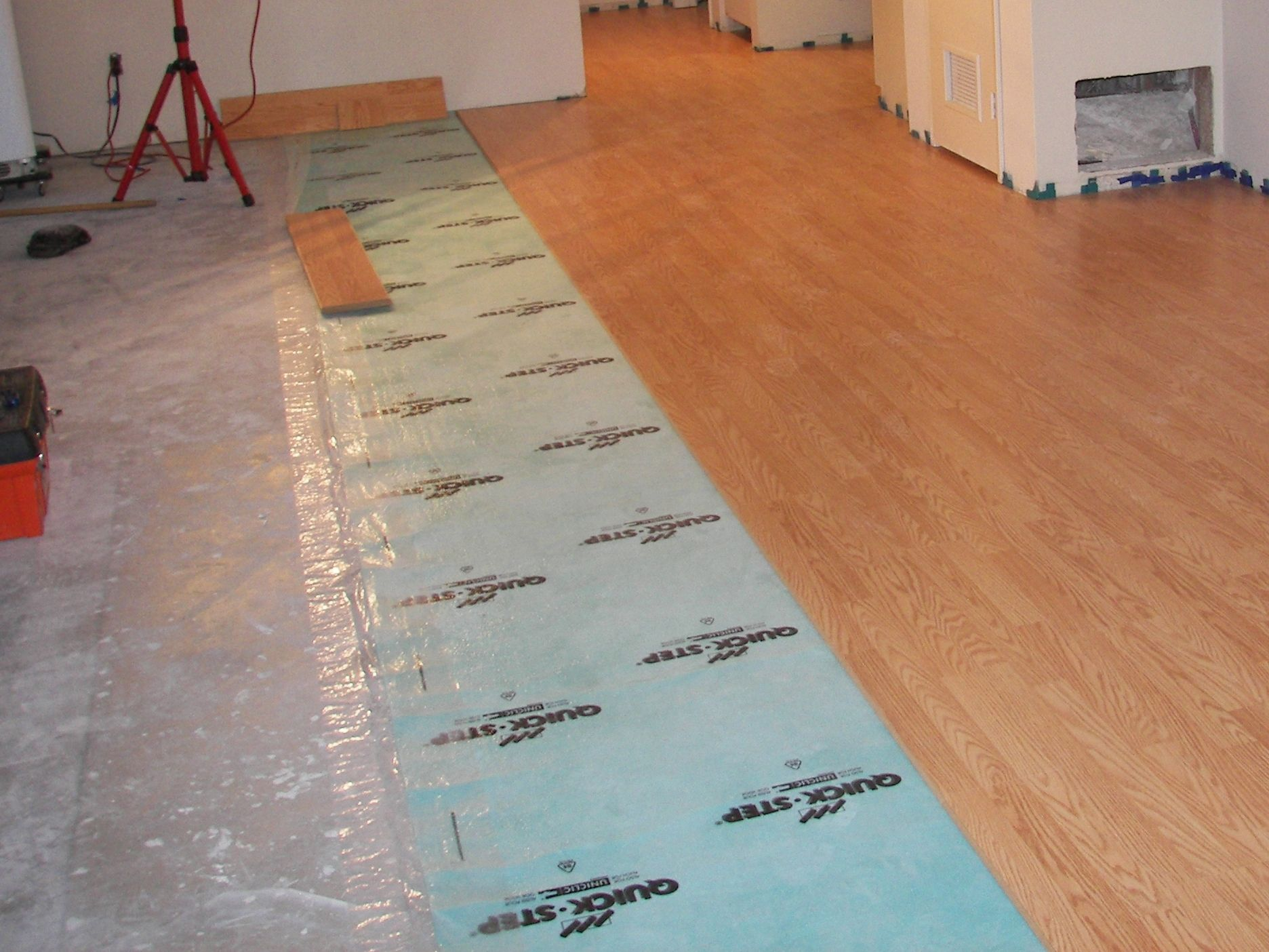 Hardwood Floor On Concrete Basement
