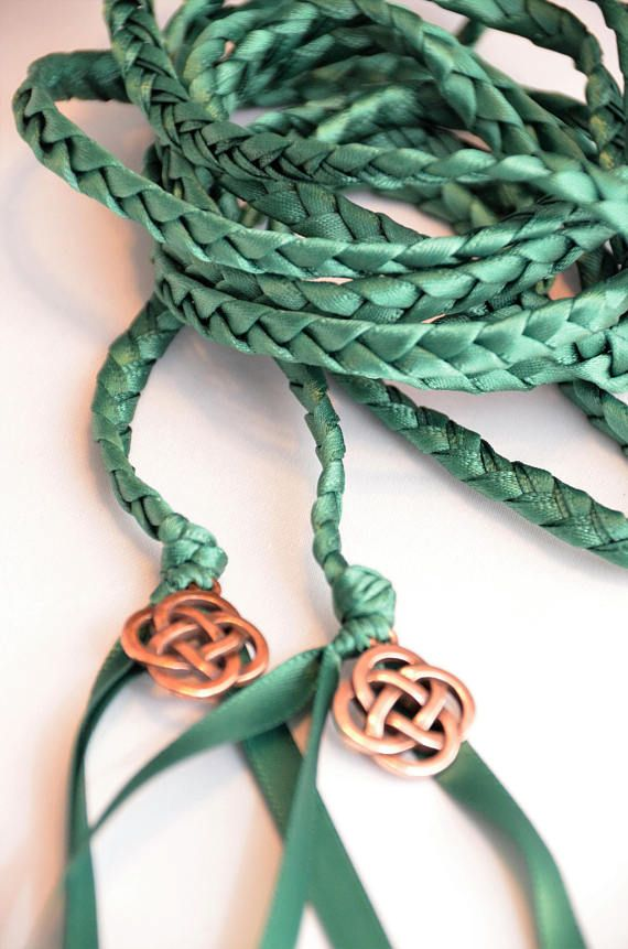 Check Out Green Celtic Knot Wedding Hand Fasting Binding Cord Divinity Braid Handfasting Ceremony Vows On