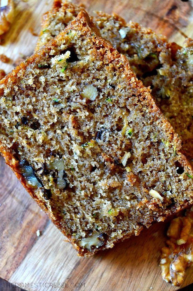 Best Ever Zucchini Walnut Bread Recipe Zucchini Bread Recipes