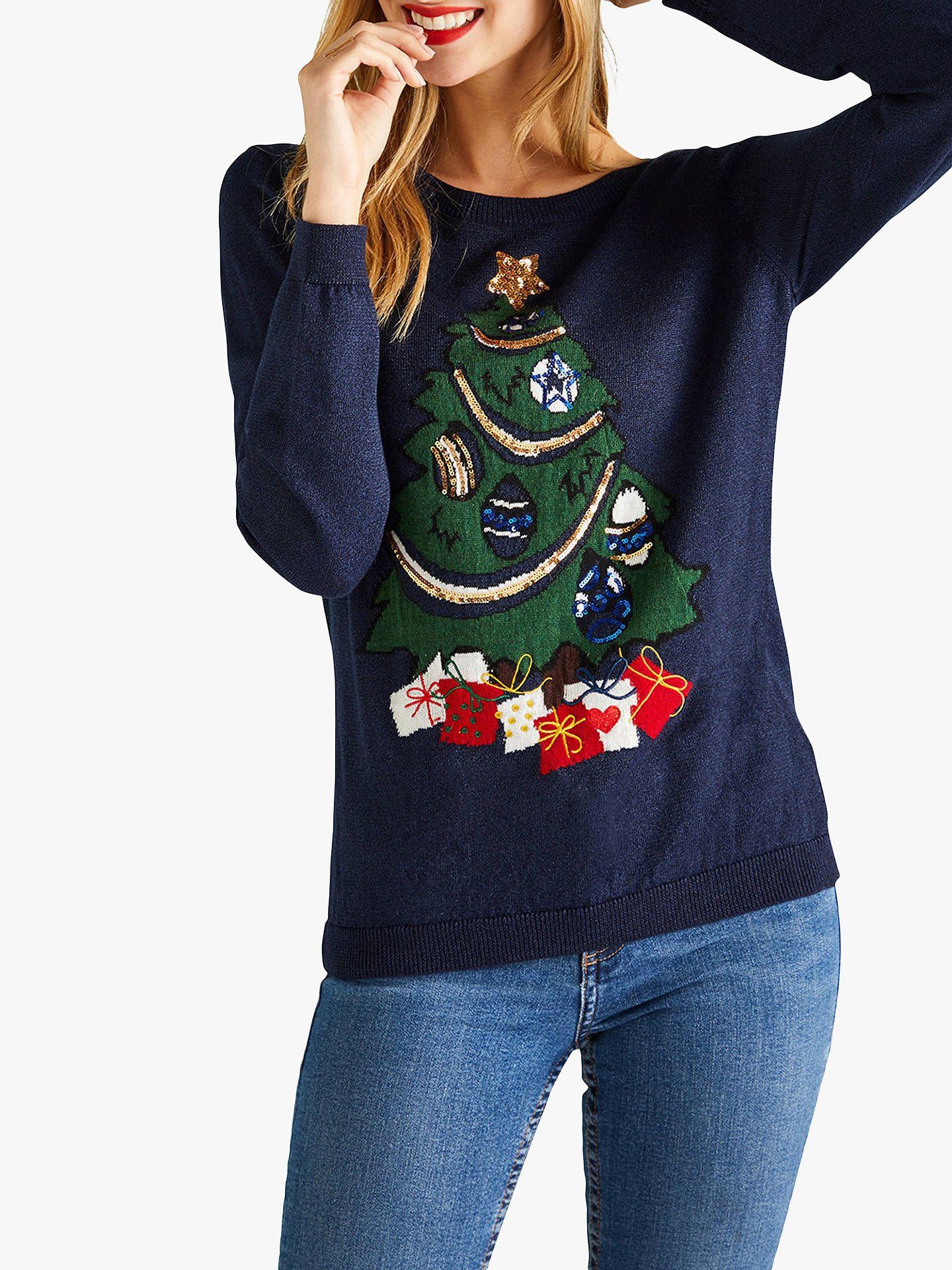 526f7763eb6 BuyYumi Embroidered Christmas Tree Jumper