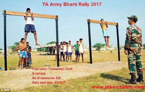 TA Army Bharti Rally 2017 Territorial Army Vacancies, Notification - army form