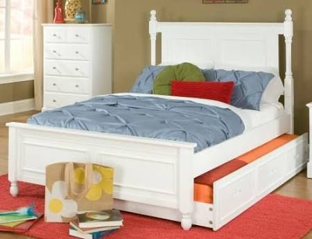 Morelle Cottage White Full Captains Bed With Trundle Dengan