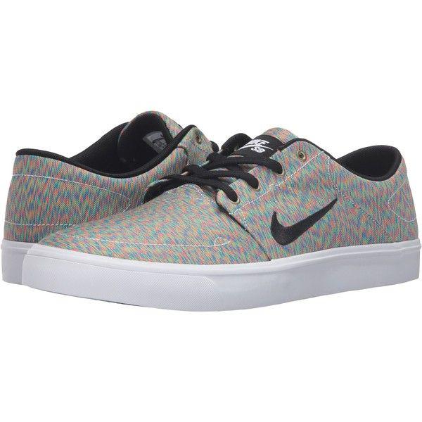 5719d6803adc Nike SB Portmore Canvas Premium (Multicolor Black White) Men s Skate ...