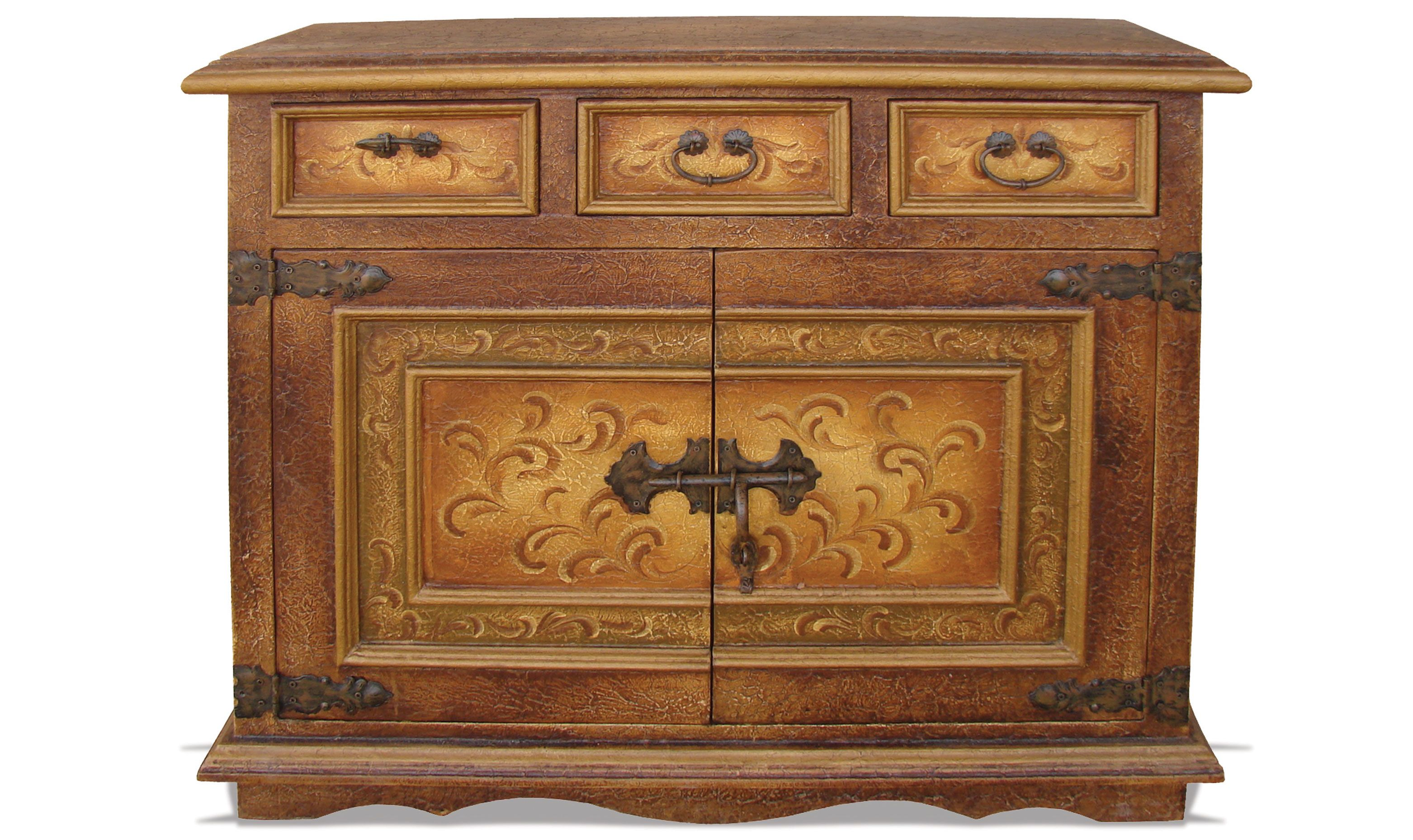 Credenza Peru : This piece was hand crafted and painted in peru custom made