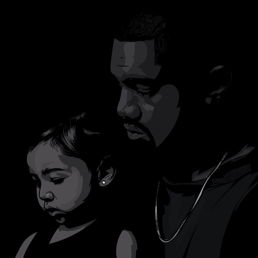 Kanye West And North West Art By Samona Lena Info Scaredofmonsters Com Http Scaredofmonsters Com Http Instagram Com Ho3sz Ht Art West Art Album Cover Art
