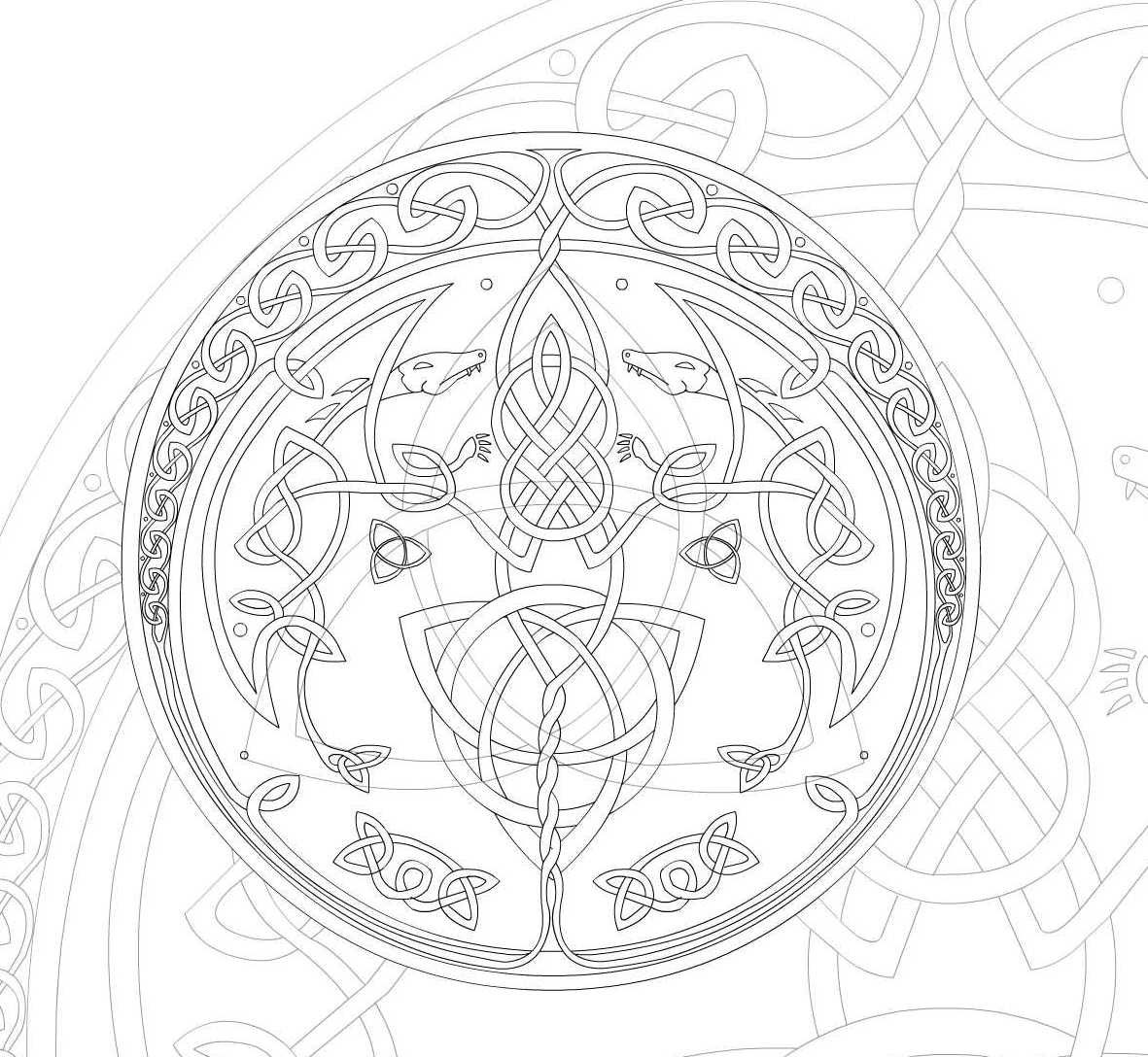 Celtic_style_mandala_by_simis.jpg (1181×1088) | line art | Pinterest ...
