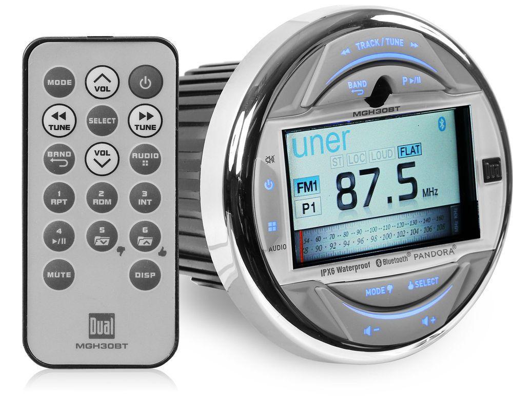 NEW Dual MGH30BT Marine Digital Media Stereo w/ Bluetooth, 3 ...