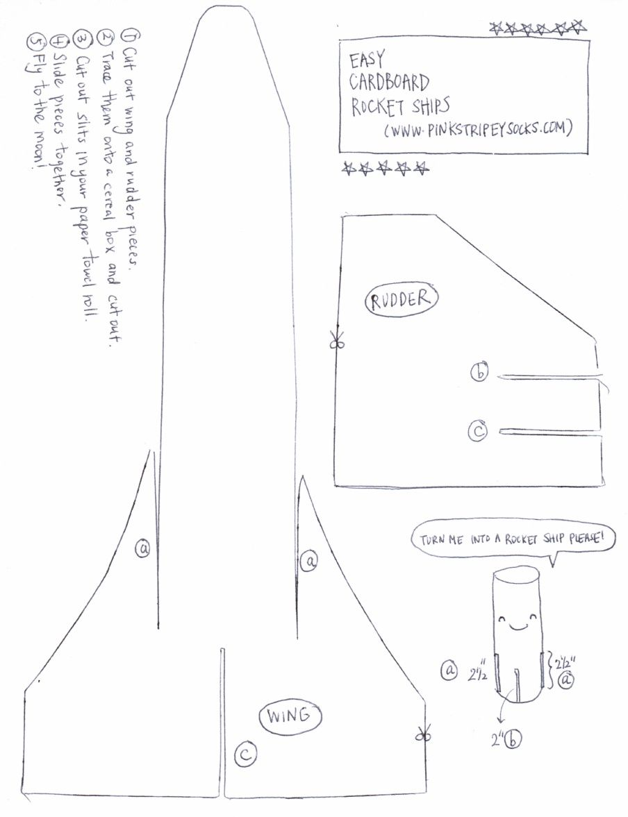 Cardboard Space Shuttle Template Scribd With Images Space