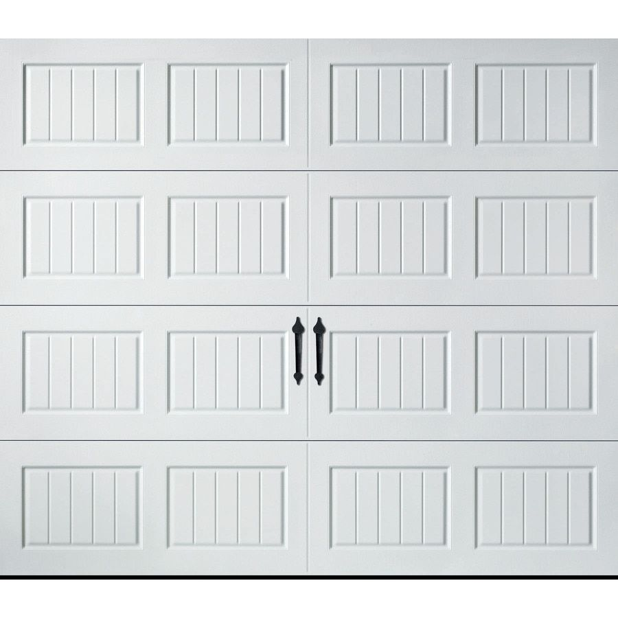 Pella Carriage House 108 In X 84 In Insulated White Single Garage Door Lowes Com Single Garage Door White Garage Doors Garage Door Windows