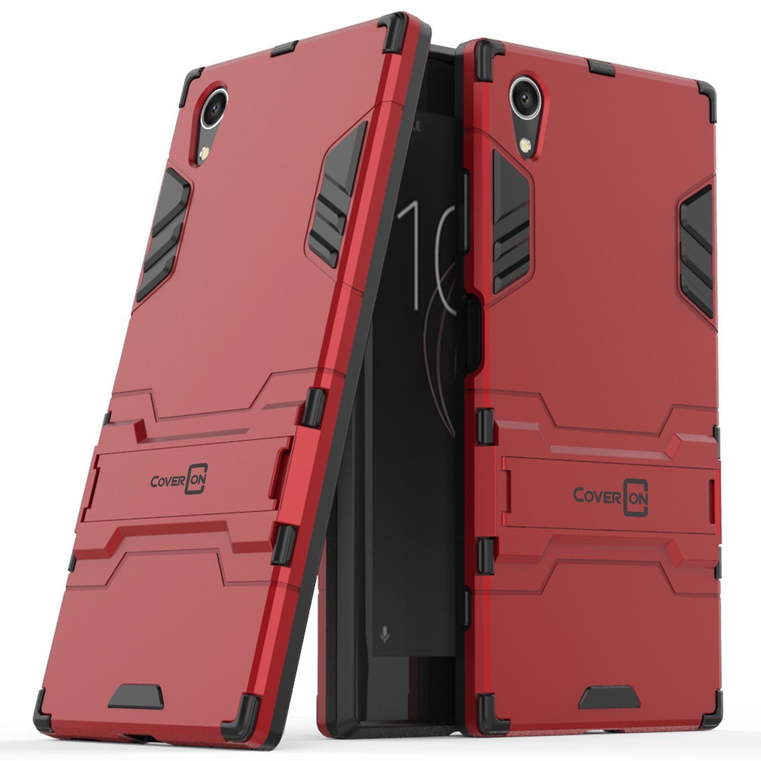 finest selection 3d2e1 67b3c $6.99 - For Sony Xperia Xa1 Plus Hard Case Red / Black Kickstand ...