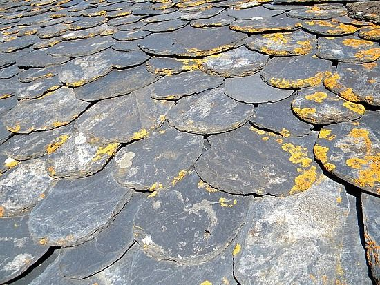 Nature Makes The Best Palettes Slate Roof Tiles Slate Roof Old Victorian Homes