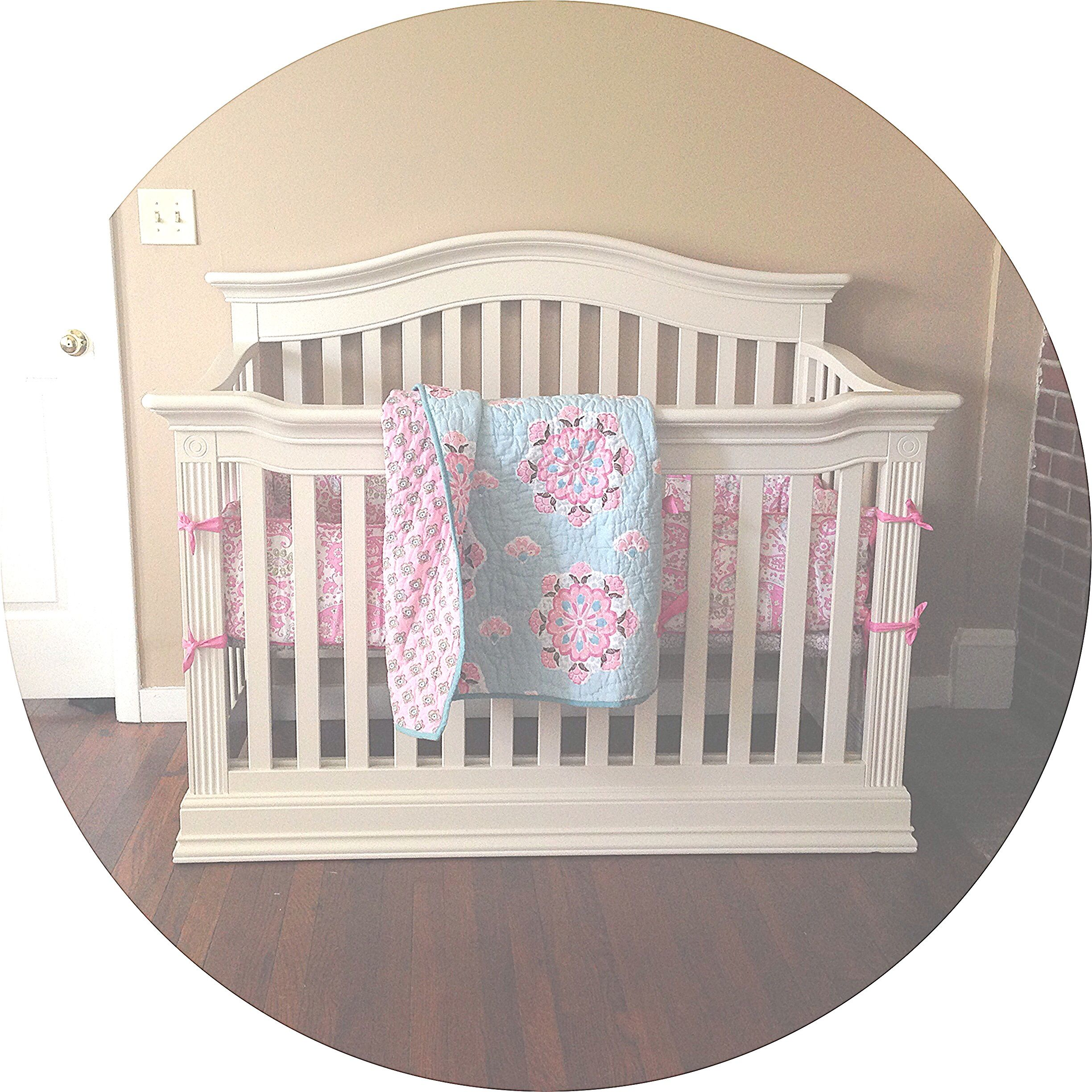 Lily Grace\'s crib. Bedding from Pottery Barn Kids, crib is Baby ...