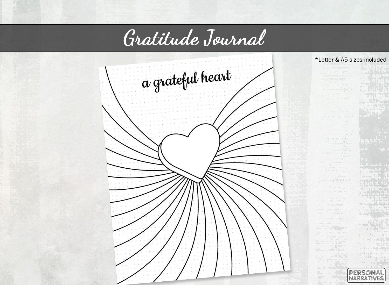 Gratitude Journal Printable Heart Daily Gratitude Log