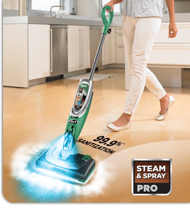 New SHARK Steam & Spray Pro - For the first time Shark® has COMBINED the legendary Shark® steam with a powerful Steam Energized™ cleanser for a never before seen deep clean. $149.75