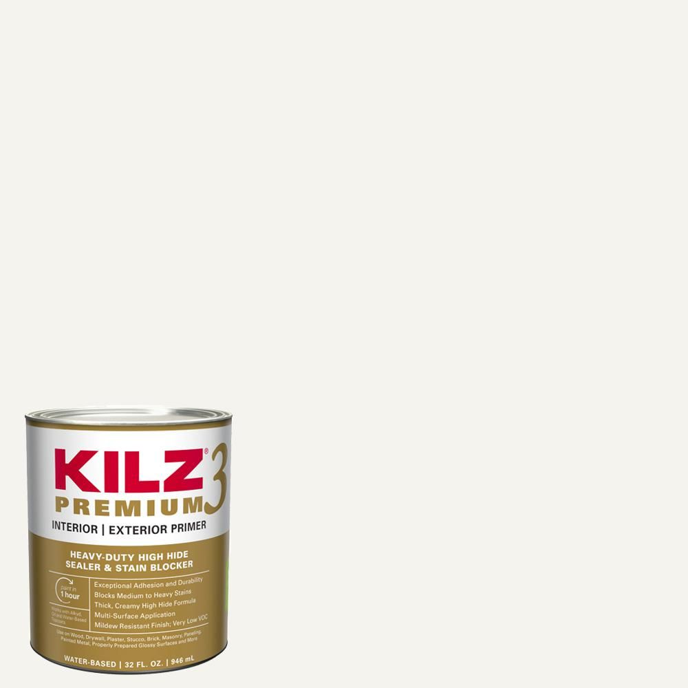 Kilz Premium 1 Qt White Interior Exterior Primer Heavy Duty High Hide Sealer And Stain Blocker 13902 Exterior Primer White Interior Sealer