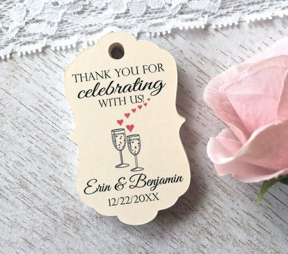 Wedding Favor Tags Personalized Tags Thank You Labels Engagement