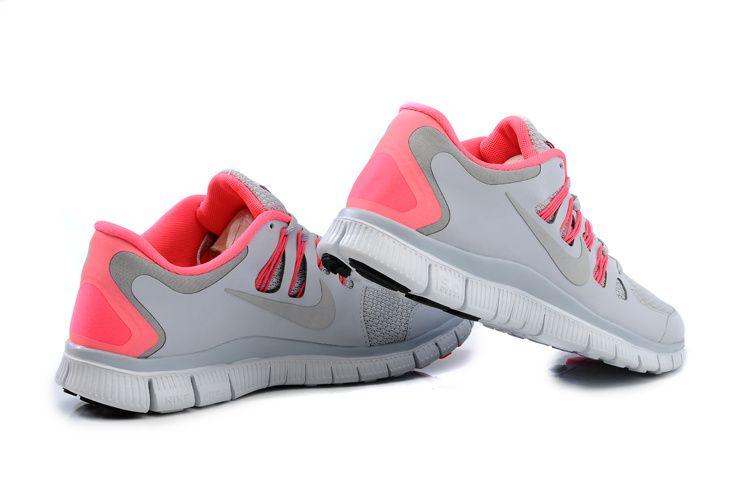 f8a5b2ee3c4a6 Nike Free 5.0+ Womens Light Gray Bright Pink Running Shoes - Cheap ...