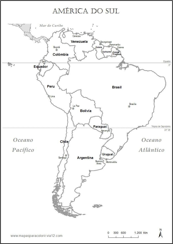 Mapa Da Am Rica Do Sul Para Pintar Com Imagens America Do Sul