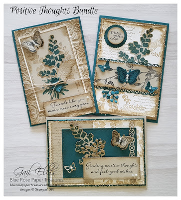 Stampin' Up! Vintage Positive Thoughts | Blue Rose Paper Treasures