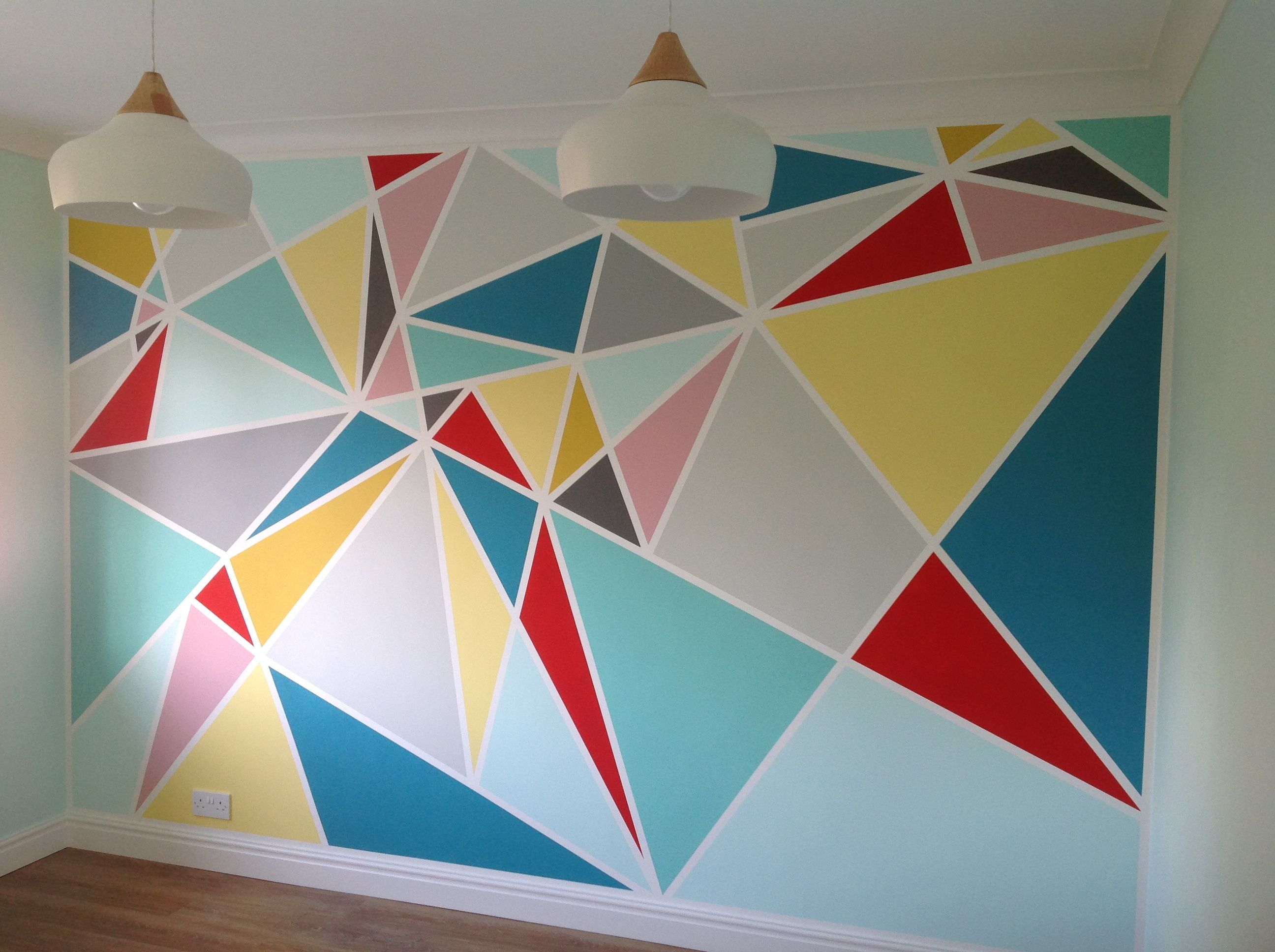 DIY wall paint design All u need is frog tape and any paint colour
