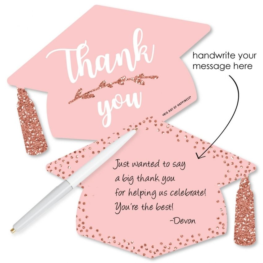 Example of graduation thank you card