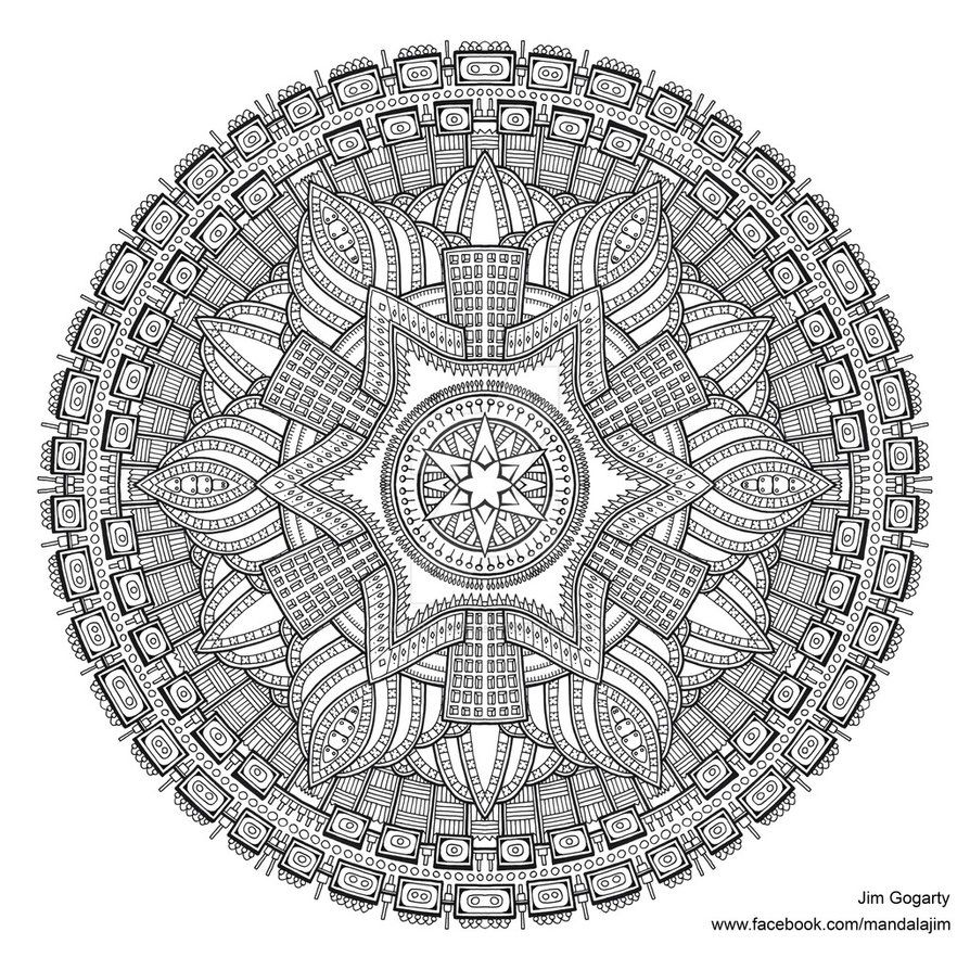- Preview Of Advanced Mandala A3 Coloring Book 2 By Mandala-Jim On