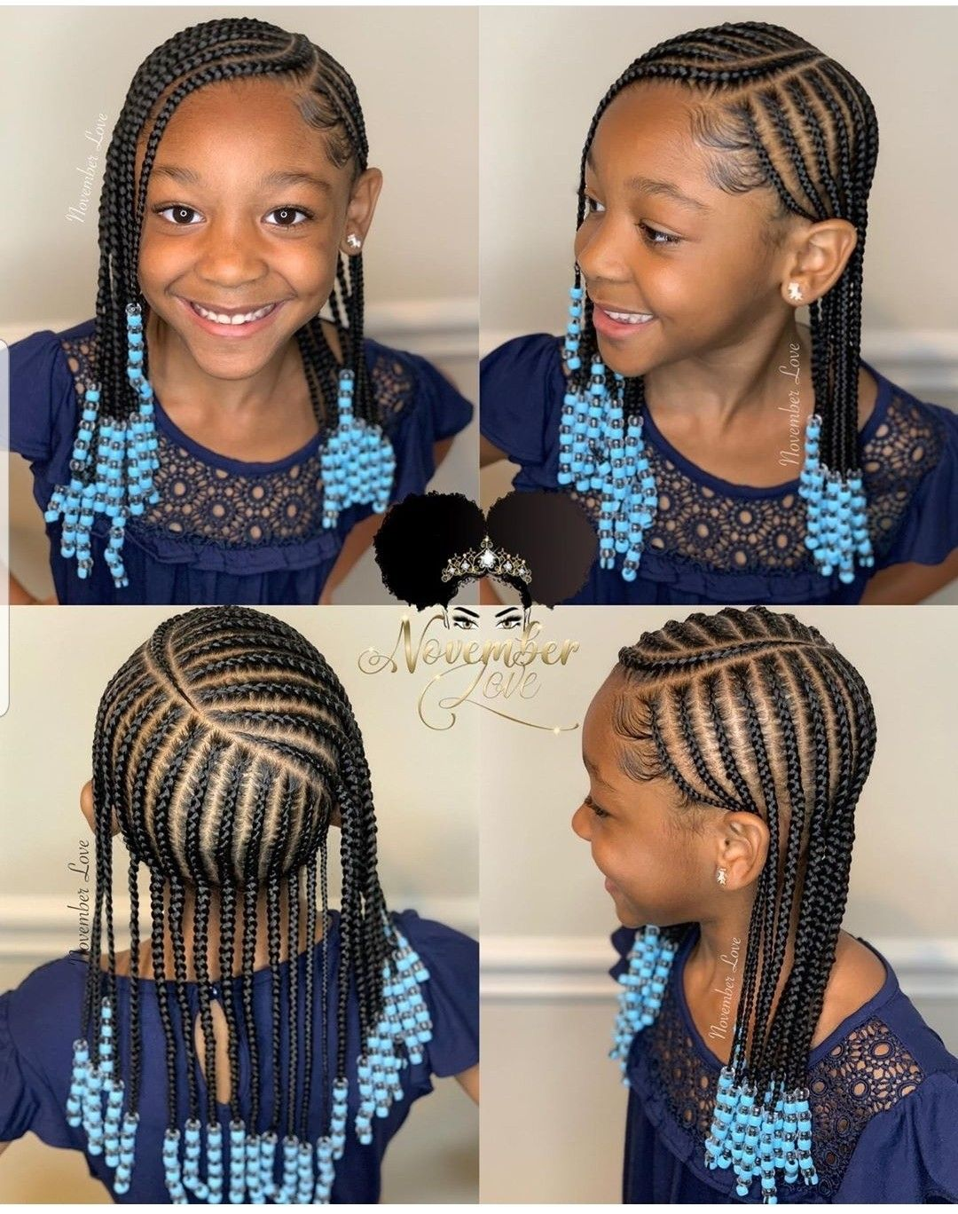 Simple And Cute Kids Hairstyles Braids For Kids Kids Braids With Beads