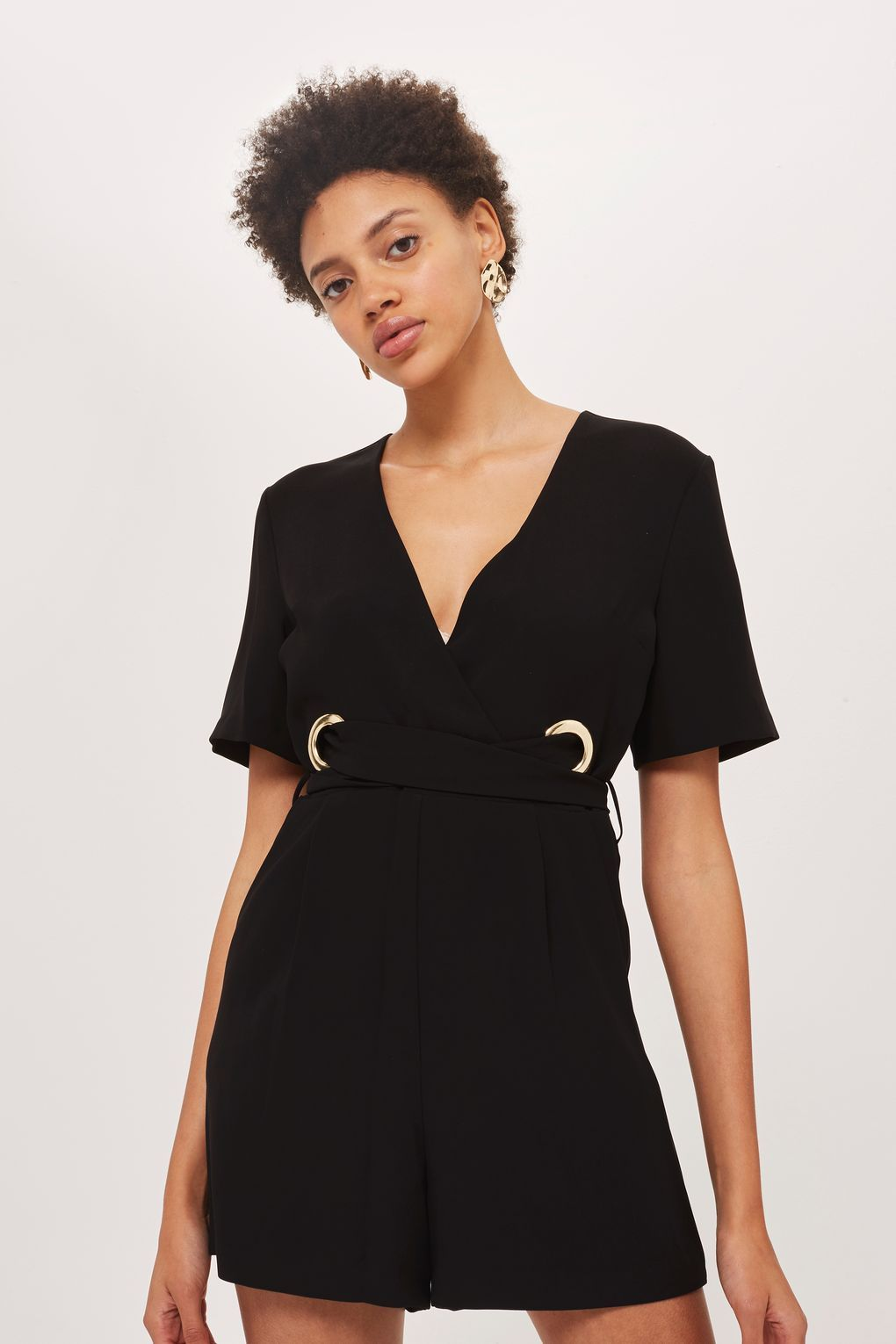 cc295fab0ed Eyelet Wrap Playsuit - Playsuits and Jumpsuits - Clothing - Topshop Europe Wrap  Playsuit