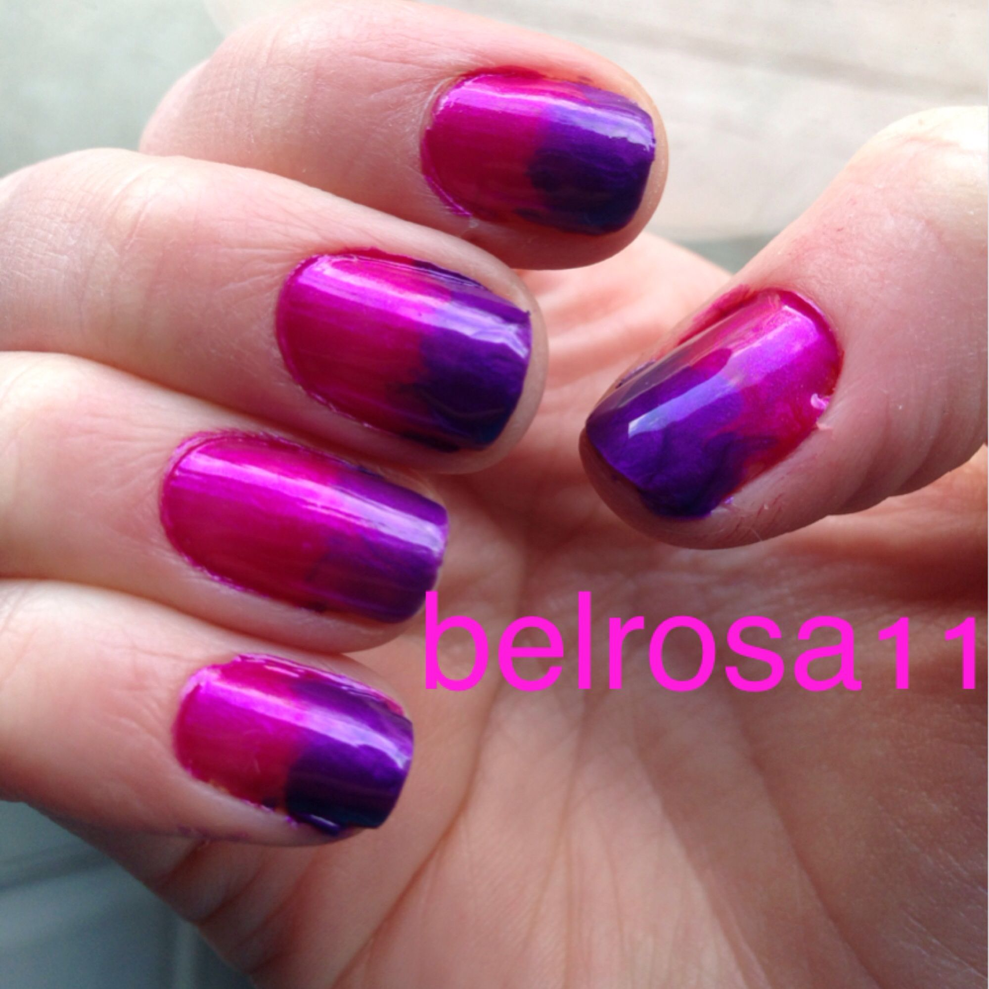 Pink and purple swirl nails by belrosa nails pinterest mani