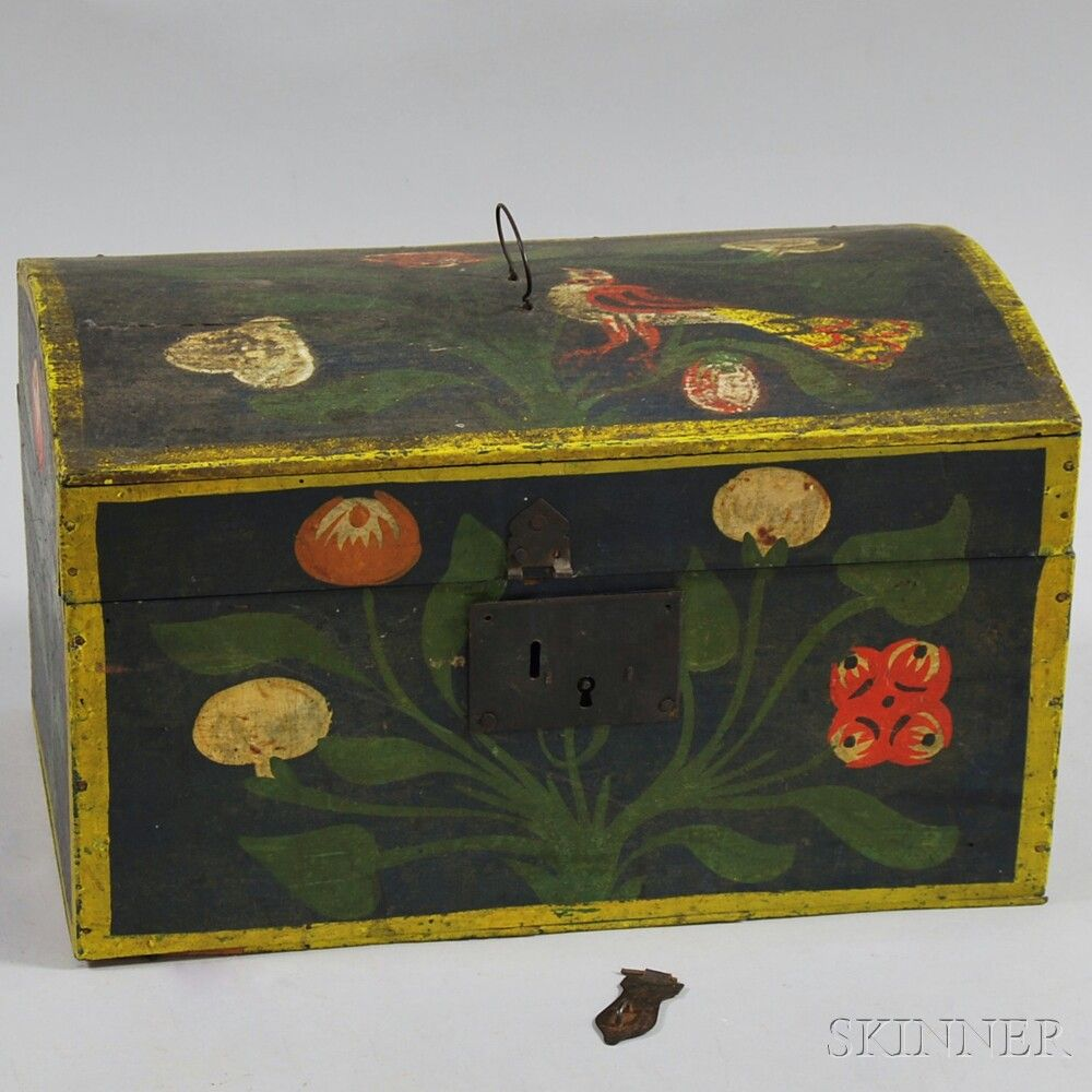 Decorative Document Boxes Paintdecorated Dometop Document Box  Boxes & Chests  Pinterest