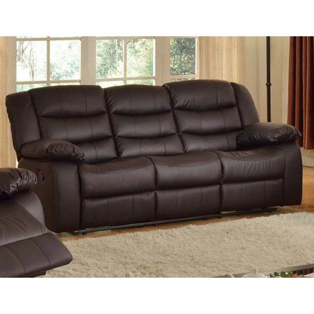 Dark Brown Reclining Dropdowntable Sofa #recliningsofa ...