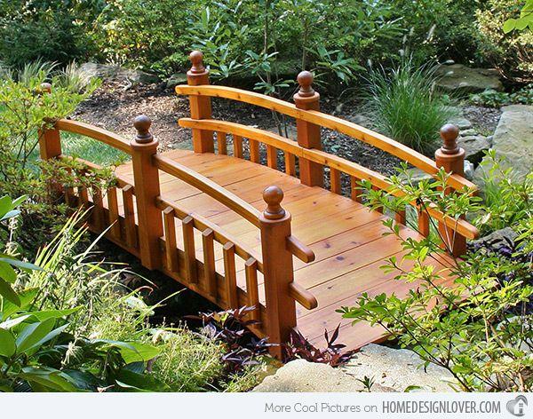 15 Whimsical Wooden Garden Bridges Garden Bridge Wooden 400 x 300