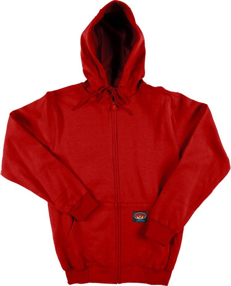 efd7fbcf086c Rasco Flame Resistant Red 100% Cotton Hooded Sweatshirt