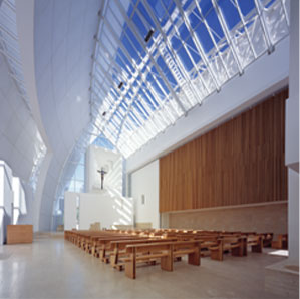 Richard Meier Interior Of Jubilee Church Architects
