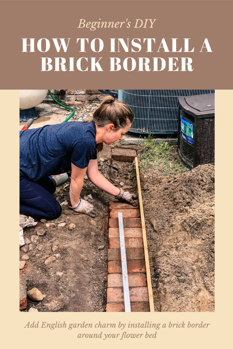 Photo of How to Add a Brick Border to Your Flower Bed – Building Bluebird
