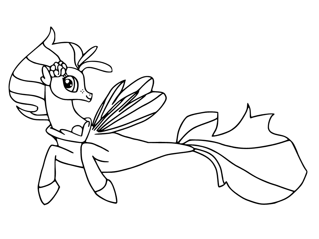 My Little Pony The Movie Coloring Page Skystar Pony Pinterest