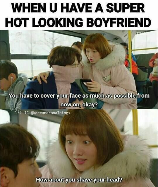 It S Hurd To Have Hot Looking Boyfriend Xd Kdrama Korean Drama Quotes Weightlifting Fairy Kim Bok Joo Wallpapers Weightlifting Fairy Kim Bok Joo Funny