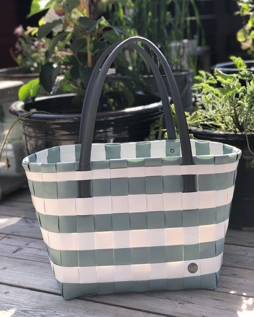 Handed By Shopper Color Block Vintage Greyish Green