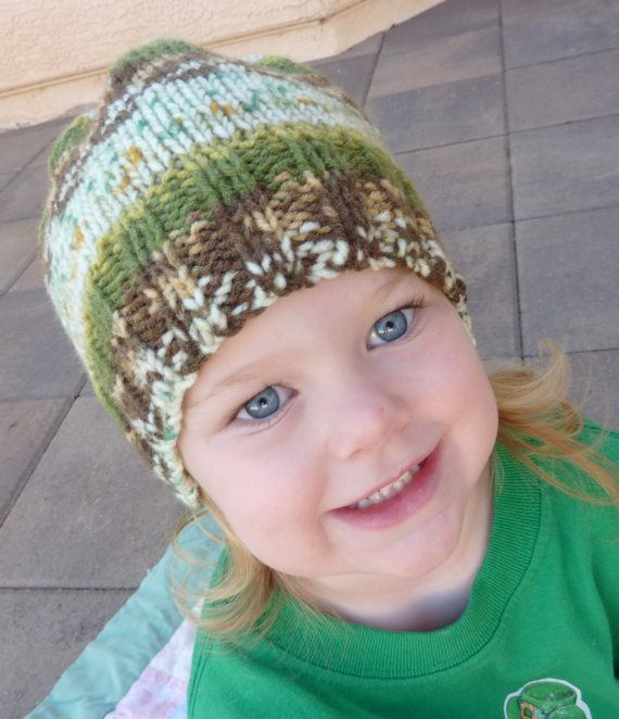 toddler hat warm size 3  5 hand knit by GrannysKnits on Etsy, $14.00
