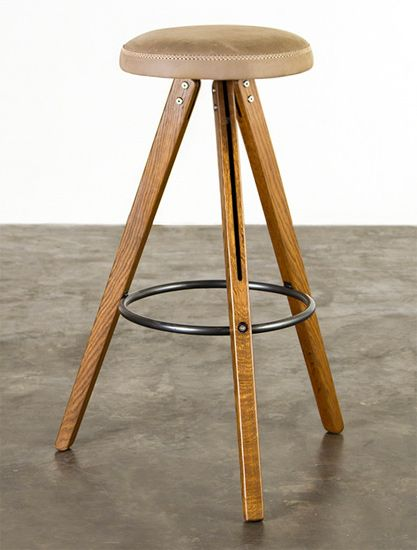 Theo Bar Stool Hgda454 Hard Fumed Oak Brown Leather With Images
