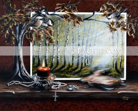Autumn surreal painting
