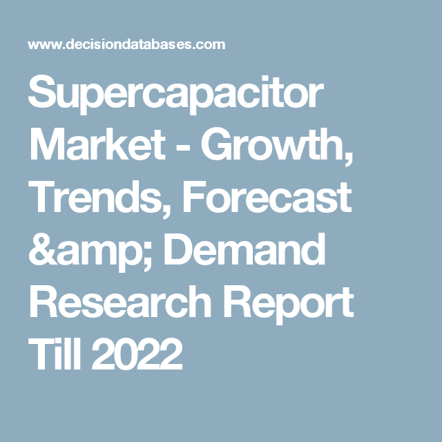 Supercapacitor Market - Growth, Trends, Forecast & Demand Research Report Till 2022