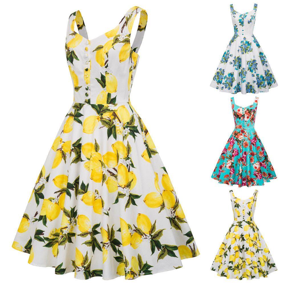 Details zu Damen Vintage 50er 60er Jahre Retro Pin Up Abend Hausfrau ...