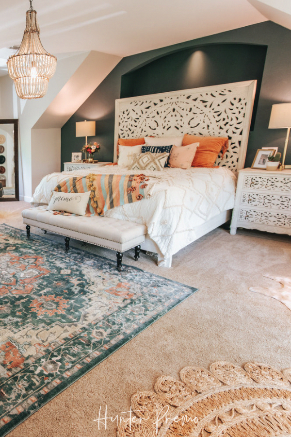 Cozy Master Bedroom Reveal Before And After Pictures Find Ideas For Your Own Room Rustic And Boho Design W In 2020 Cozy Master Bedroom Home Bedroom Bedroom Makeover