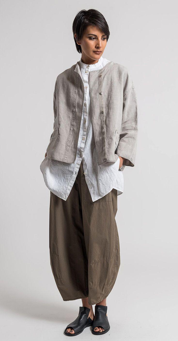 Oska Linen Talida Jacket in Natural  33f43a384