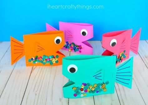 Super Cute Paper Fish Craft #craftsforkids
