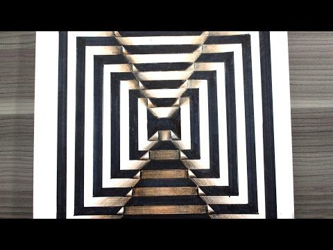 Como Dibujar Una Ilusion Optica 3d How To Draw Optical Illusion